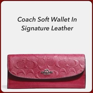 🔥Coach Signature Red Envelope Wallet NWT!!!💃🏻👛